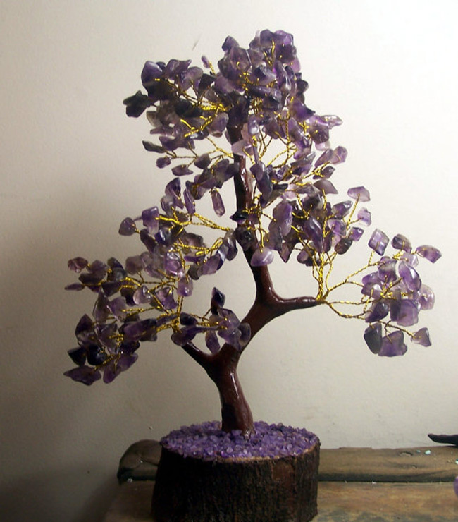 Beautiful Jewelry Tree Holder with Golden Branches
