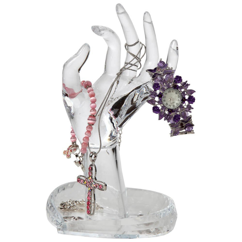 Beautiful Acrylic Mannequin Jewelry Holder Hand