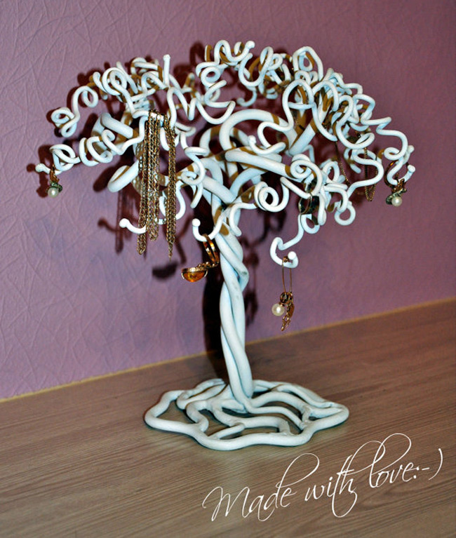 Cute Curly Jewelry Tree Holder