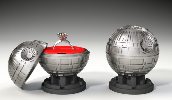 Death Star Themed Engagement Ring Holder