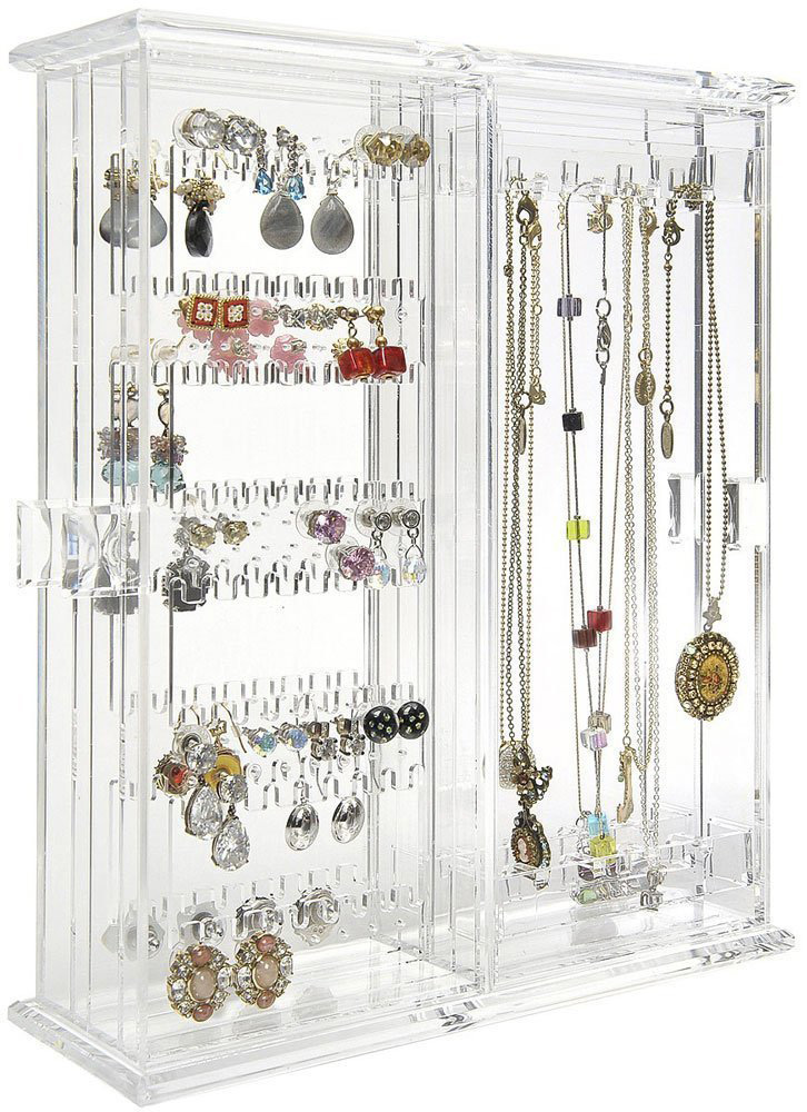 Large Acrylic Countertop Jewelry Holder Case