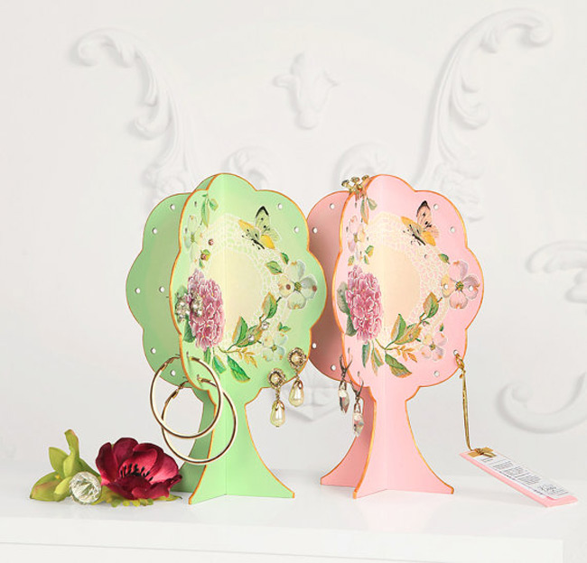Colorful Three Sided Jewelry Tree Holder Pack