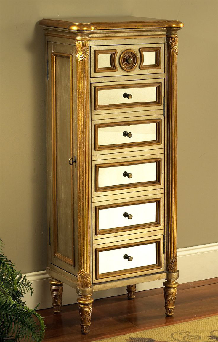 All Wood Jewelry Armoire ~ Beautiful tall jewelry armoires zen merchandiser