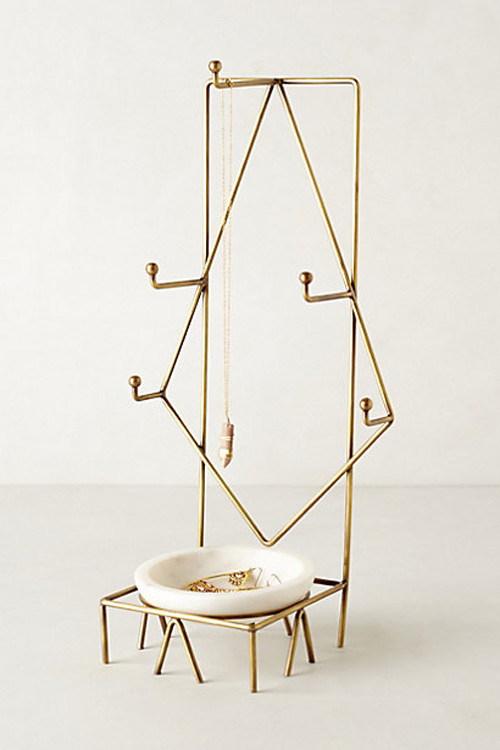 Creative Minimalist Golden Jewelry Holder Stand