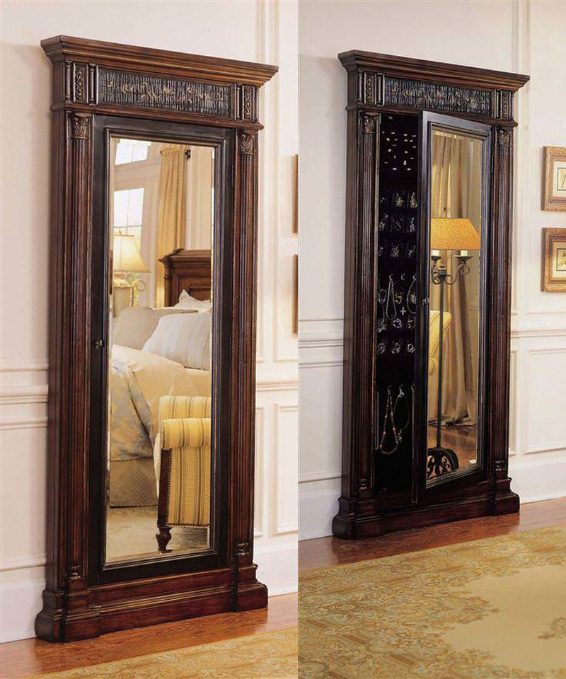 Standing Jewelry Armoire ~ Beautiful standing mirror jewelry armoires zen