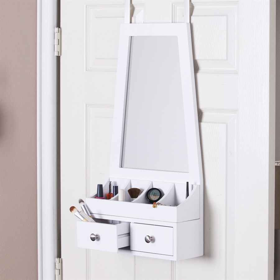 Cute Accessory Drawer Over The Door Jewelry Armoire