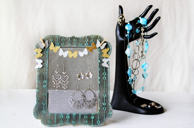 Cute Mesh Wire Picture Frame Jewelry Holder