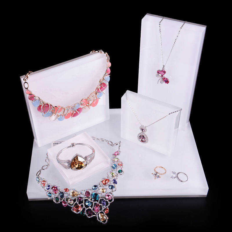 Beautiful Acrylic Jewelry Display Set with Multiple Holders