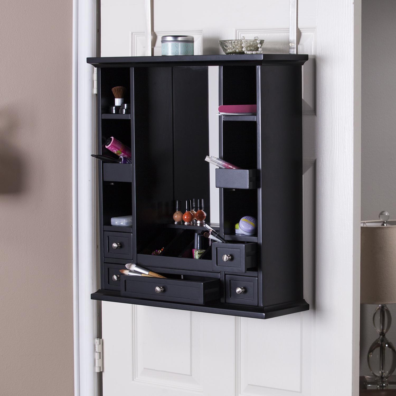 Elegant Black Over The Door Jewelry Armoire
