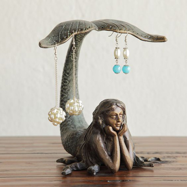 Beautiful Mermaid Shaped Earring Holder