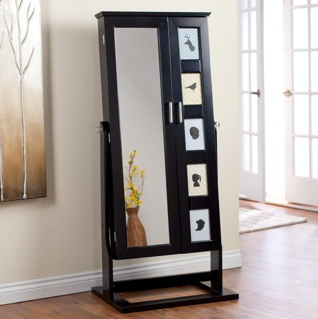 25 beautiful full length jewelry armoires zen merchandiser. Black Bedroom Furniture Sets. Home Design Ideas