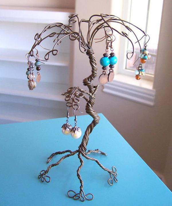 Cute Copper Wire Jewelry Tree Holder