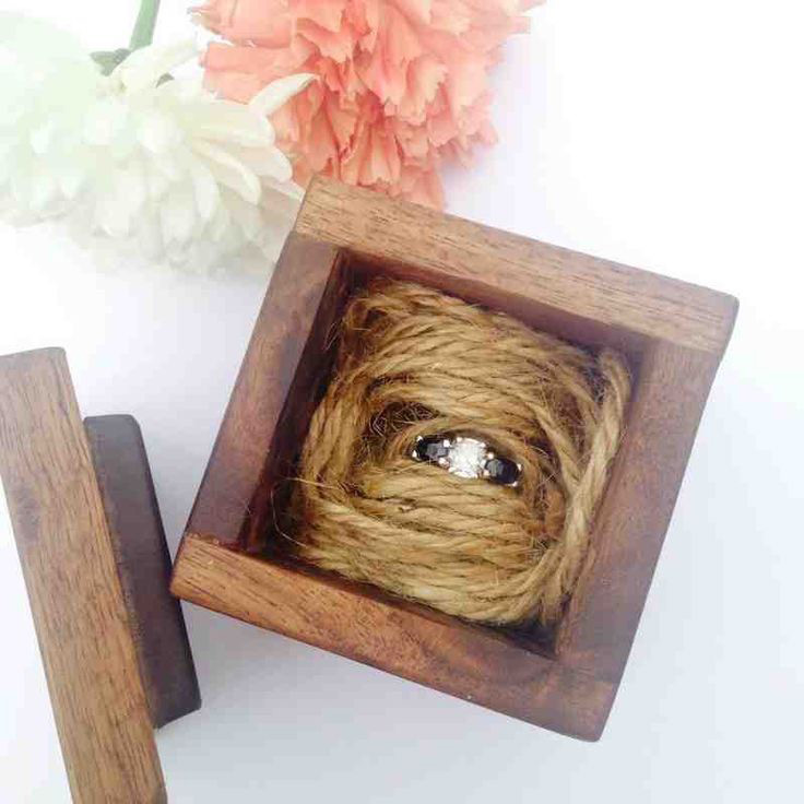 Cute Rustic Engagement Ring Holder Box