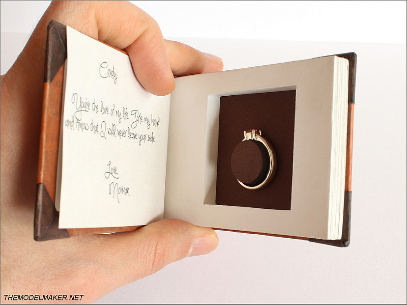 Creative Book Shaped Engagement Ring Holder