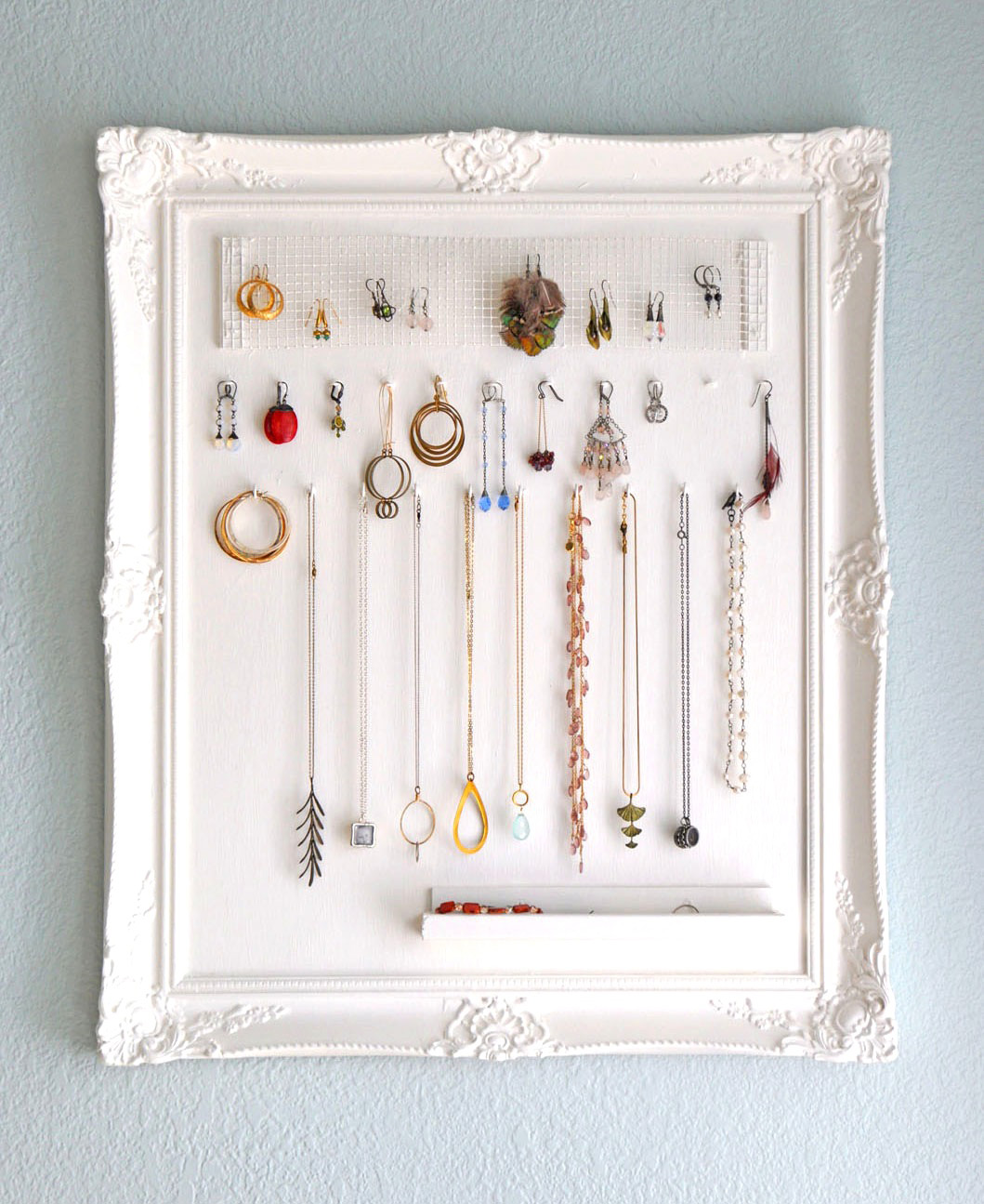 Vintage Pattern Wall Hanging Picture Frame Jewelry Holder