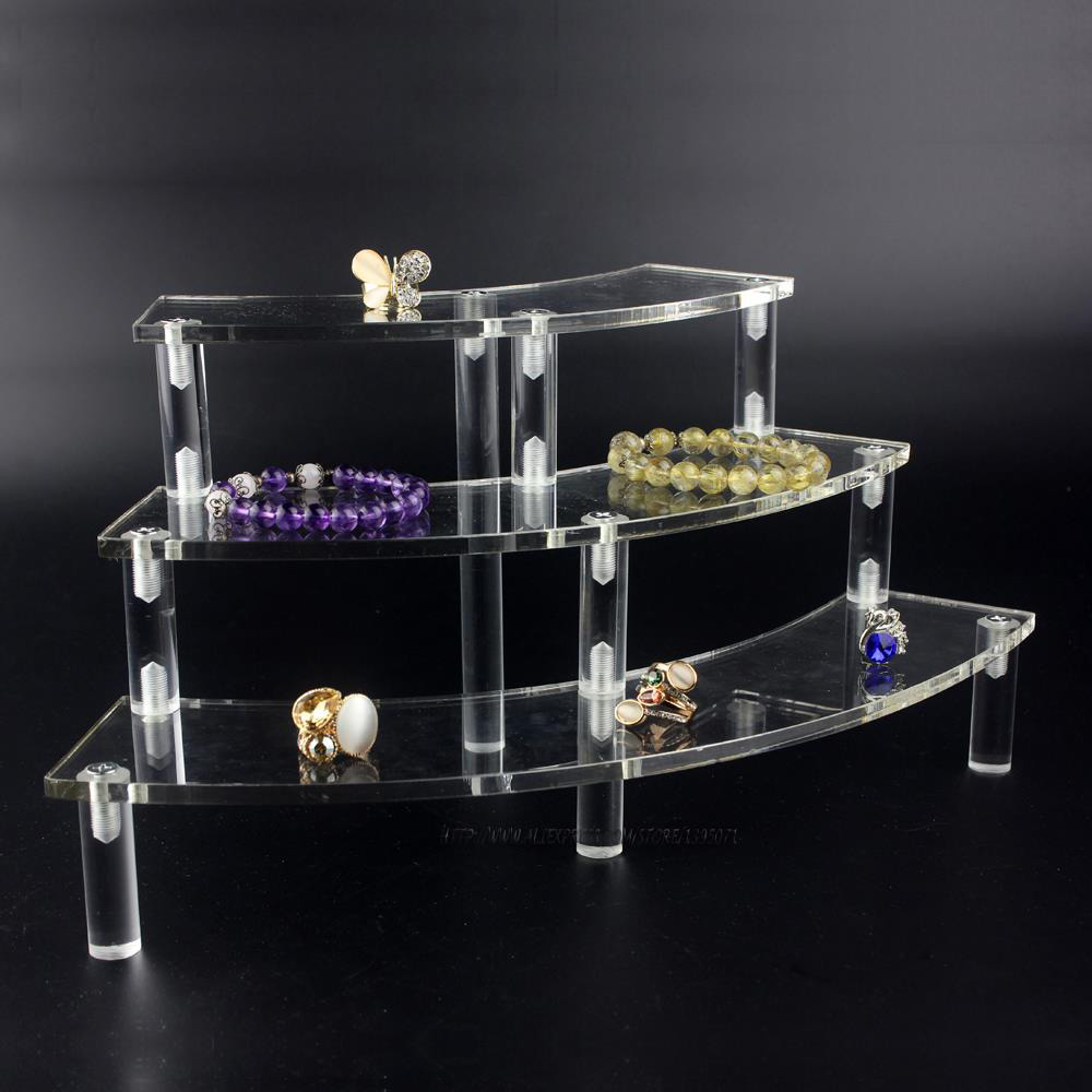 Elegant Multi Tier Acrylic Jewelry Holder Stand