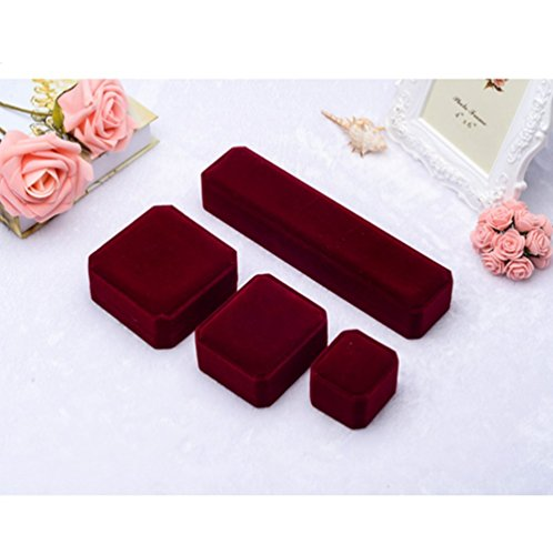 Beautiful red velvet 4 piece set jewelry bracelet ring for Red velvet jewelry gift boxes