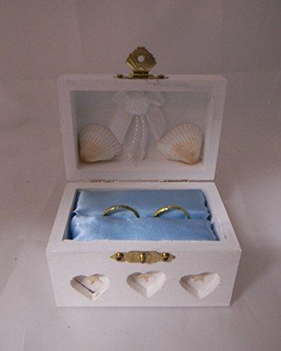 Wedding Ceremony Ring Bearer Box Hold Rings Beach