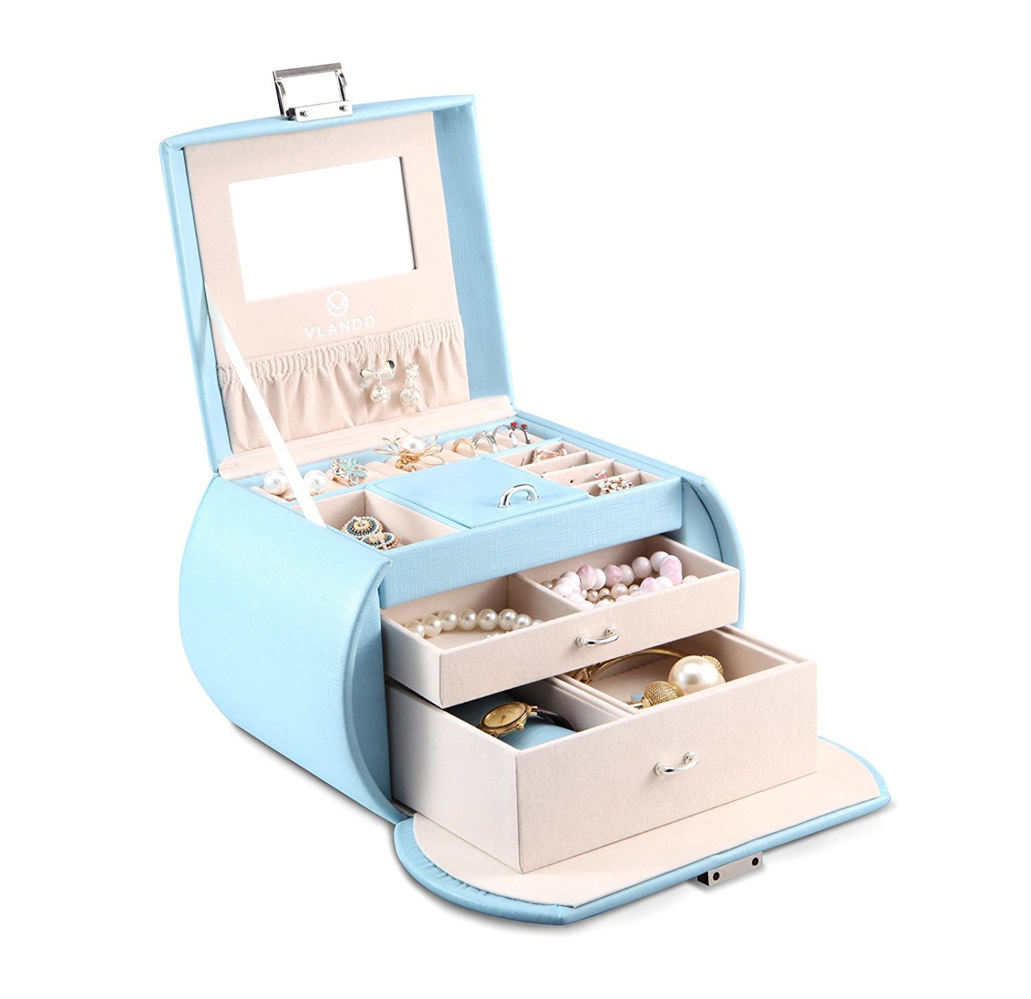 Large Cute Blue Jewelry Gift Box