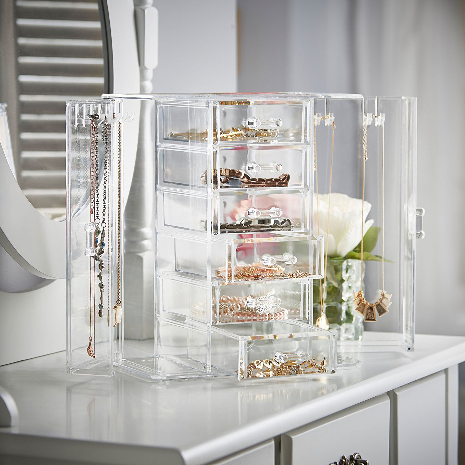 Beautiful Countertop Acrylic Large Capacity Jewelry Box