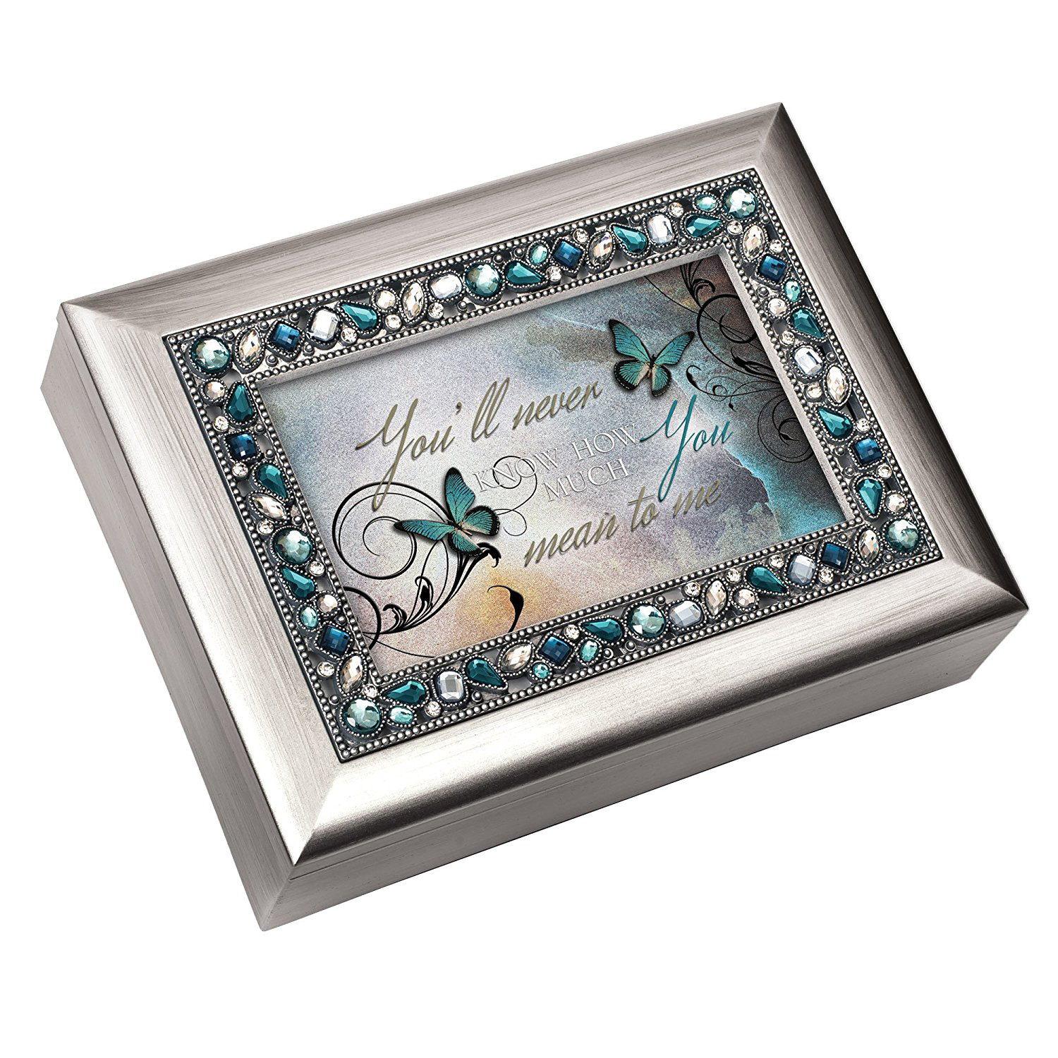 Beautiful Silver Photo Frame Decorative Jewelry Box