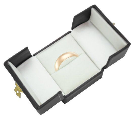 Minimalist Black Elegant Ring Box