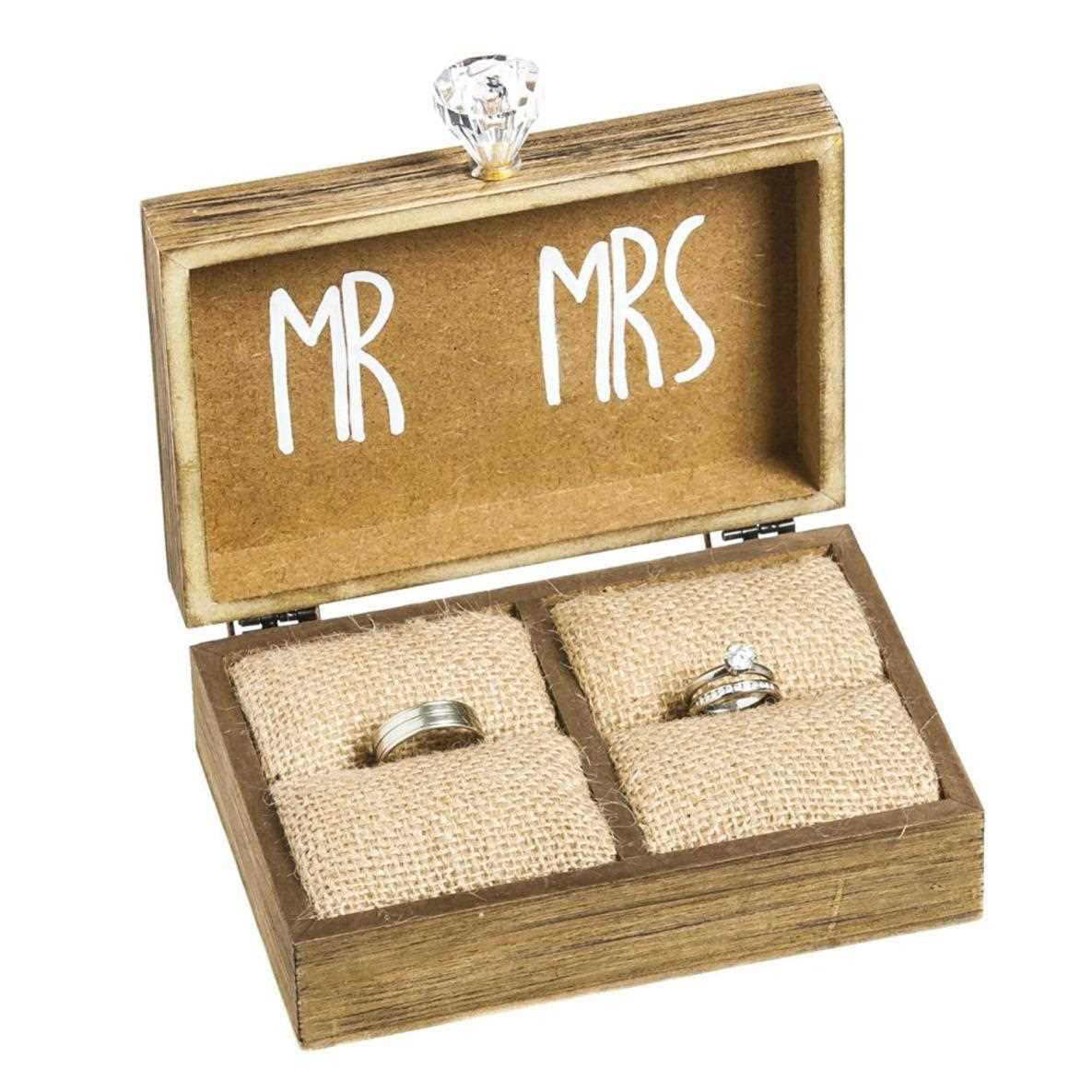 Incroyable Vintage Rustic Wedding Ring Box