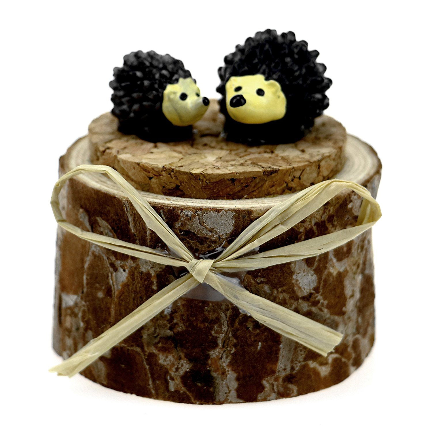 Cute Tree Trunk Hollowed Out Wedding Ring Box