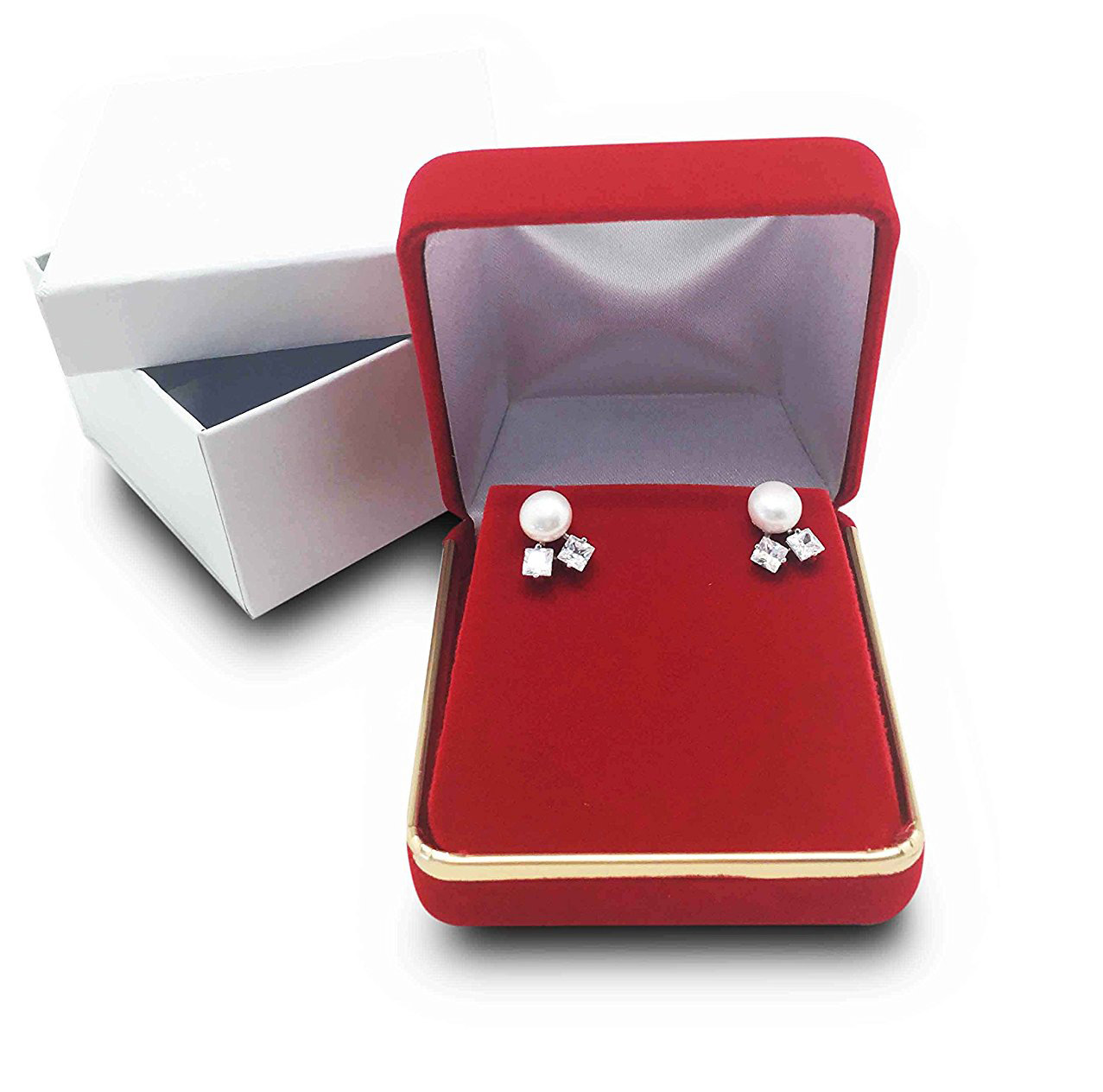 Simple Elegant Red Earring Box