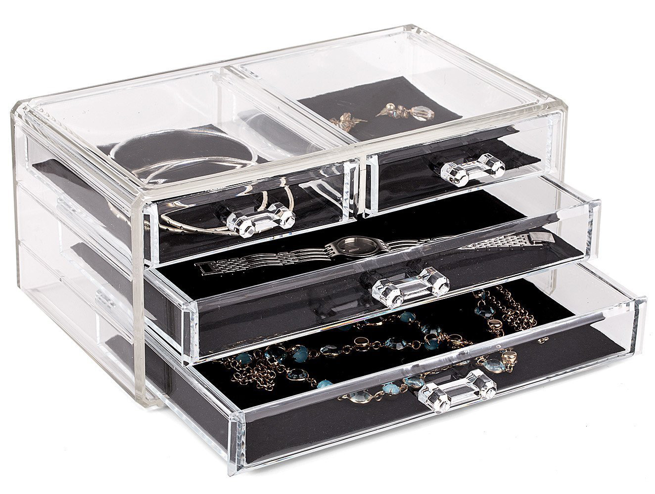 Simple Triple Tier Tray Acrylic Jewelry Box
