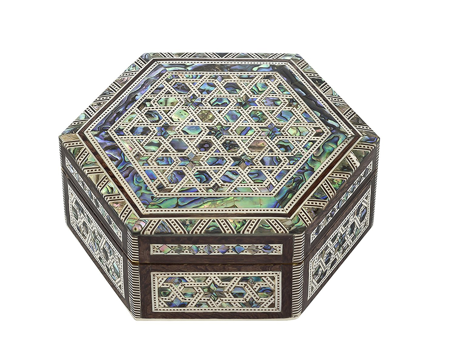 Beautiful Multicolored Stained Glass Jewelry Chest