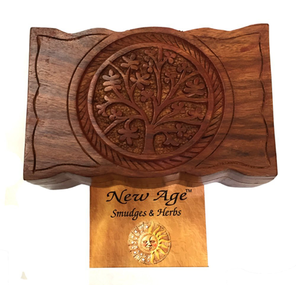 Cute Wooden Tree of Life Trinket Box