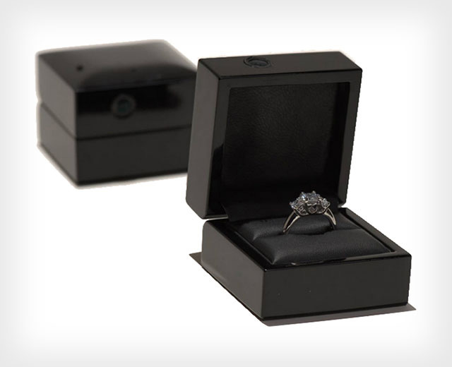 Elegant Black Ring Holder Box