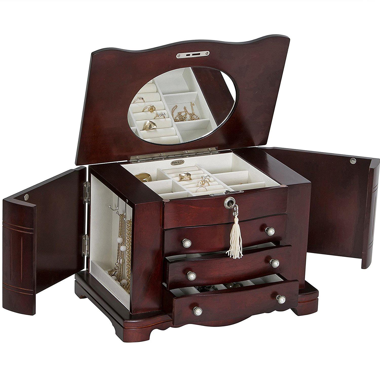 Beautiful locking jewelry boxes zen merchandiser