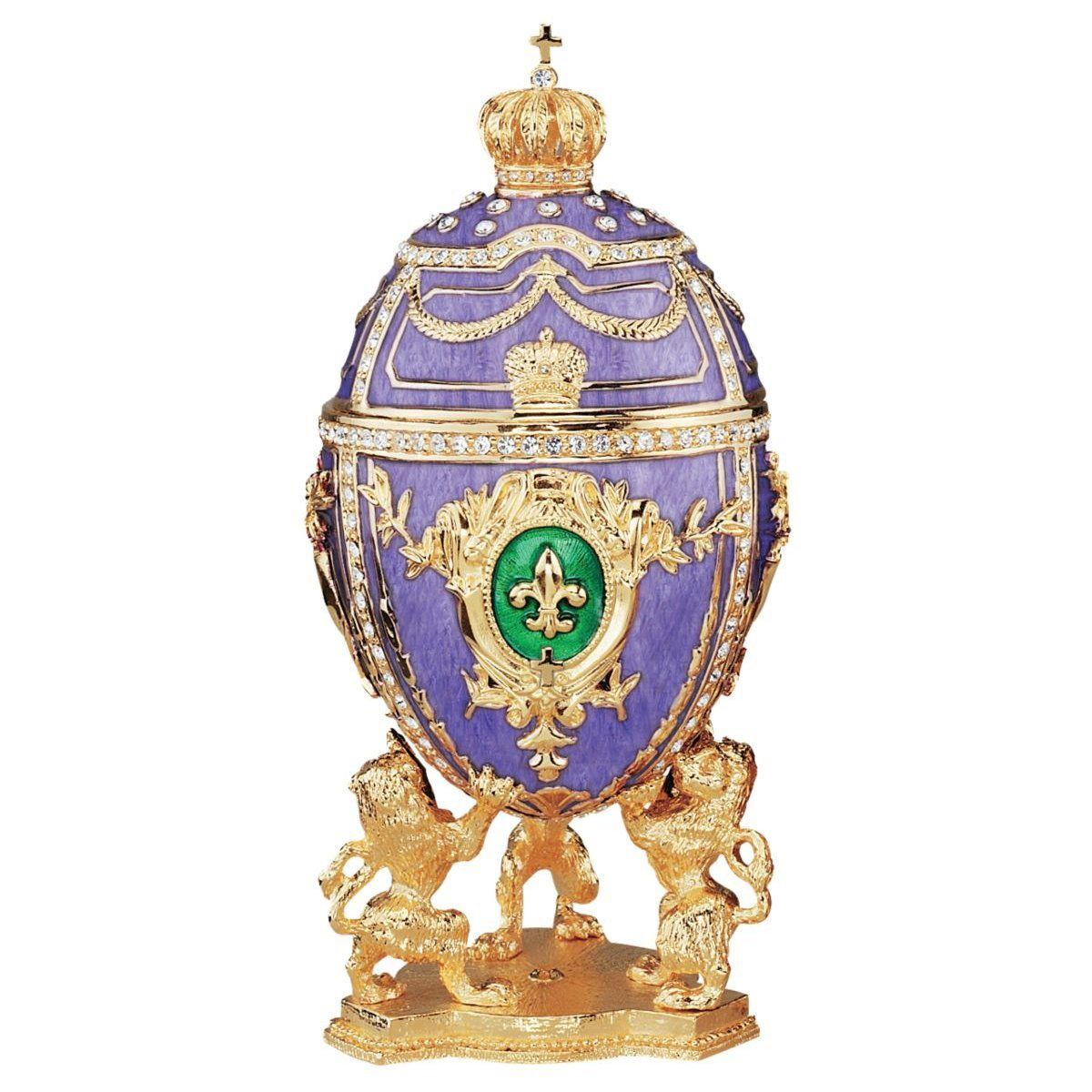 Beautiful Gold & Purple Faberge Style Jewelry Box