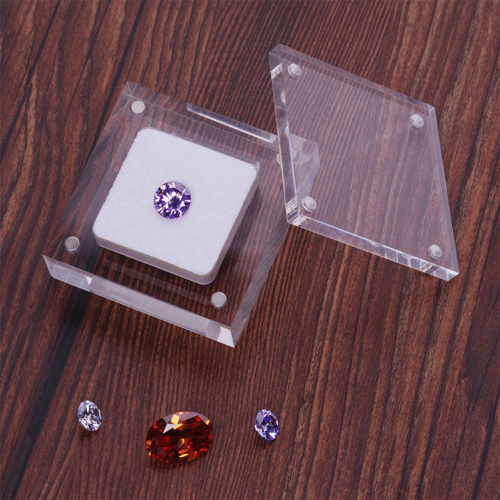 Cute Simple Small Acrylic Jewelry Box