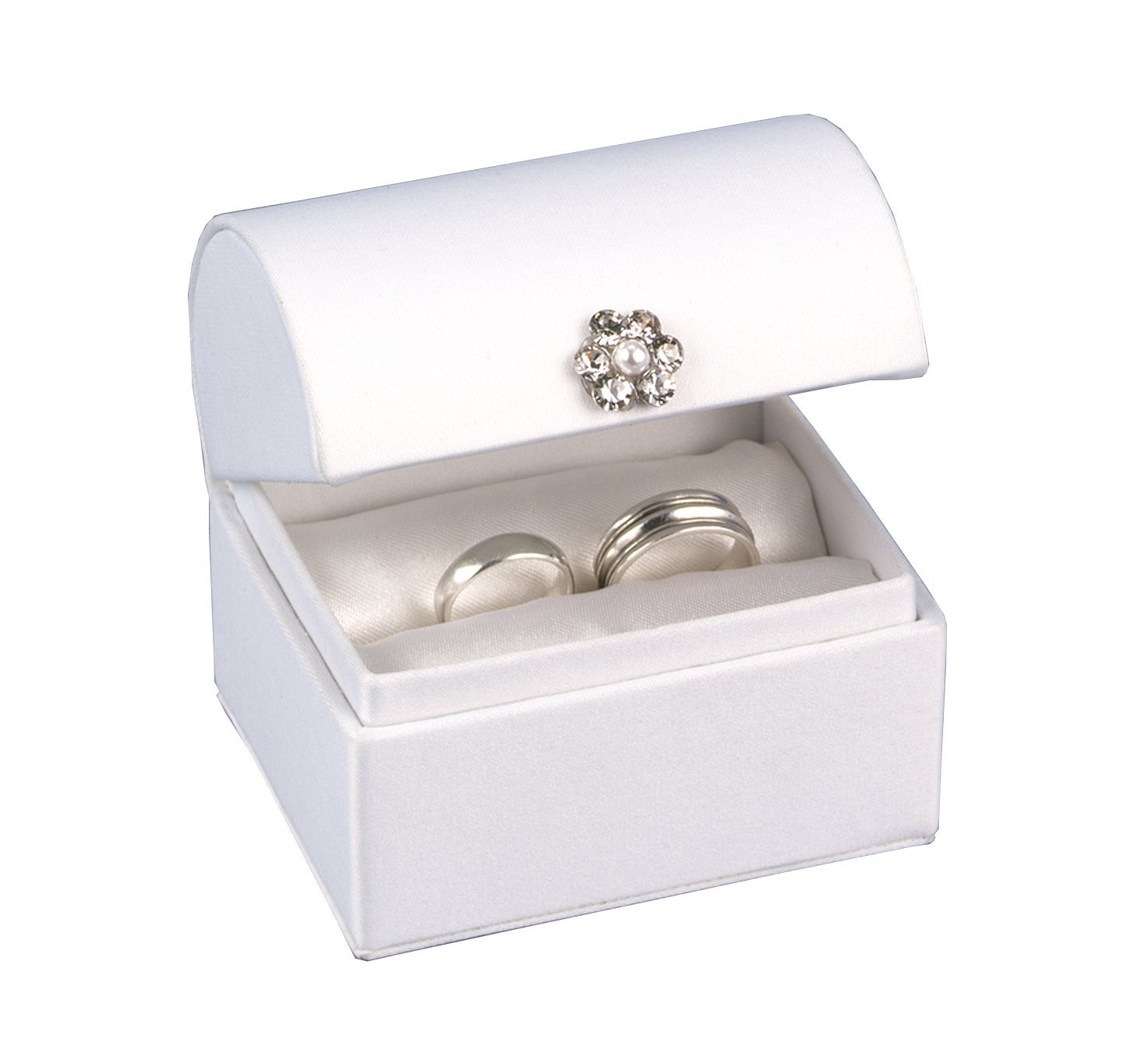 Minimalist White Beautiful Wedding Ring Box