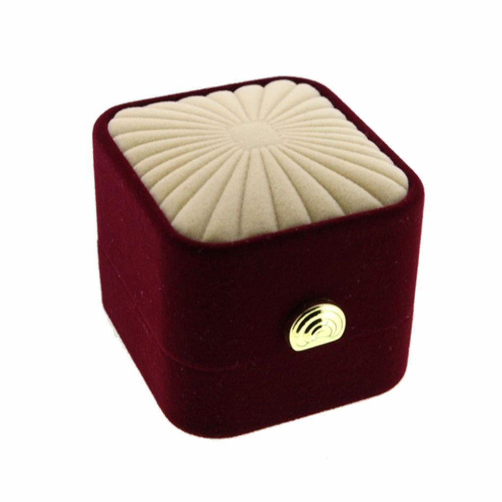 Elegant Red Champagne Colored Ring Box