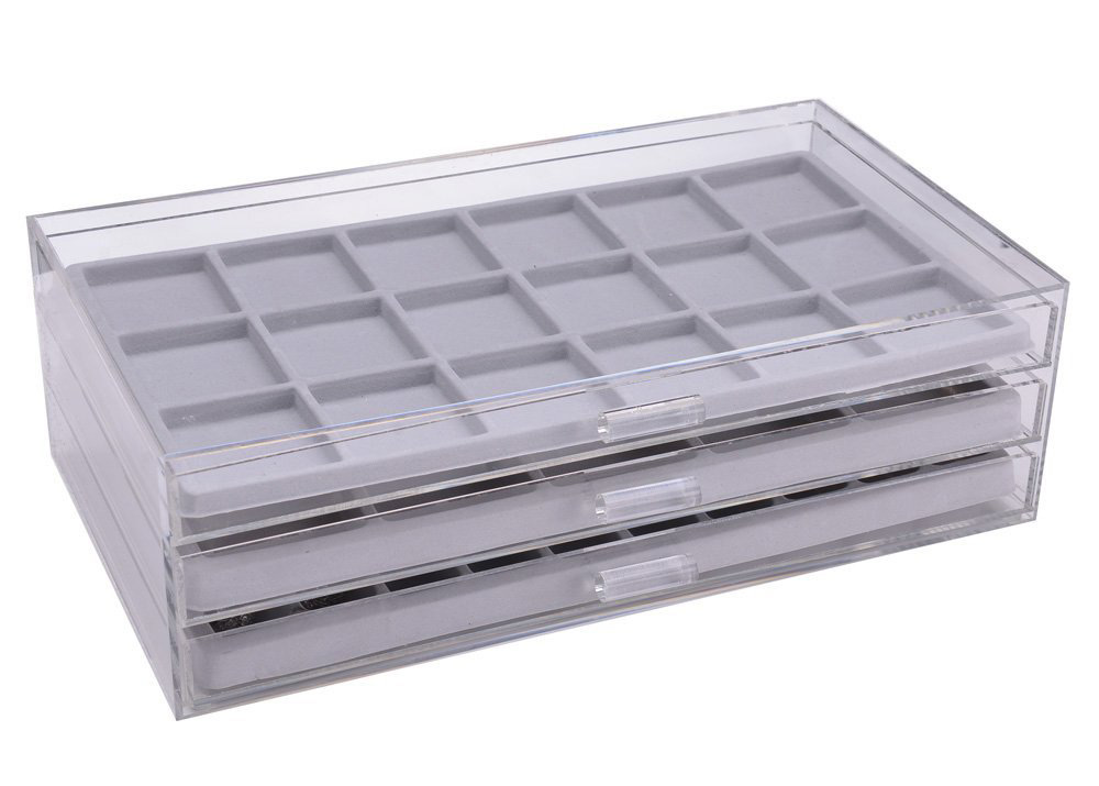 Large Capacity Acrylic Jewelry Tray Box