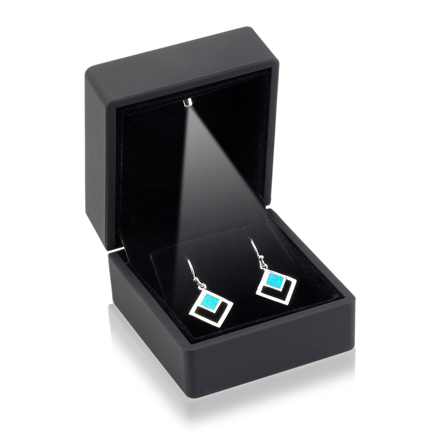Minimalist Black LED Lighted Earring Box