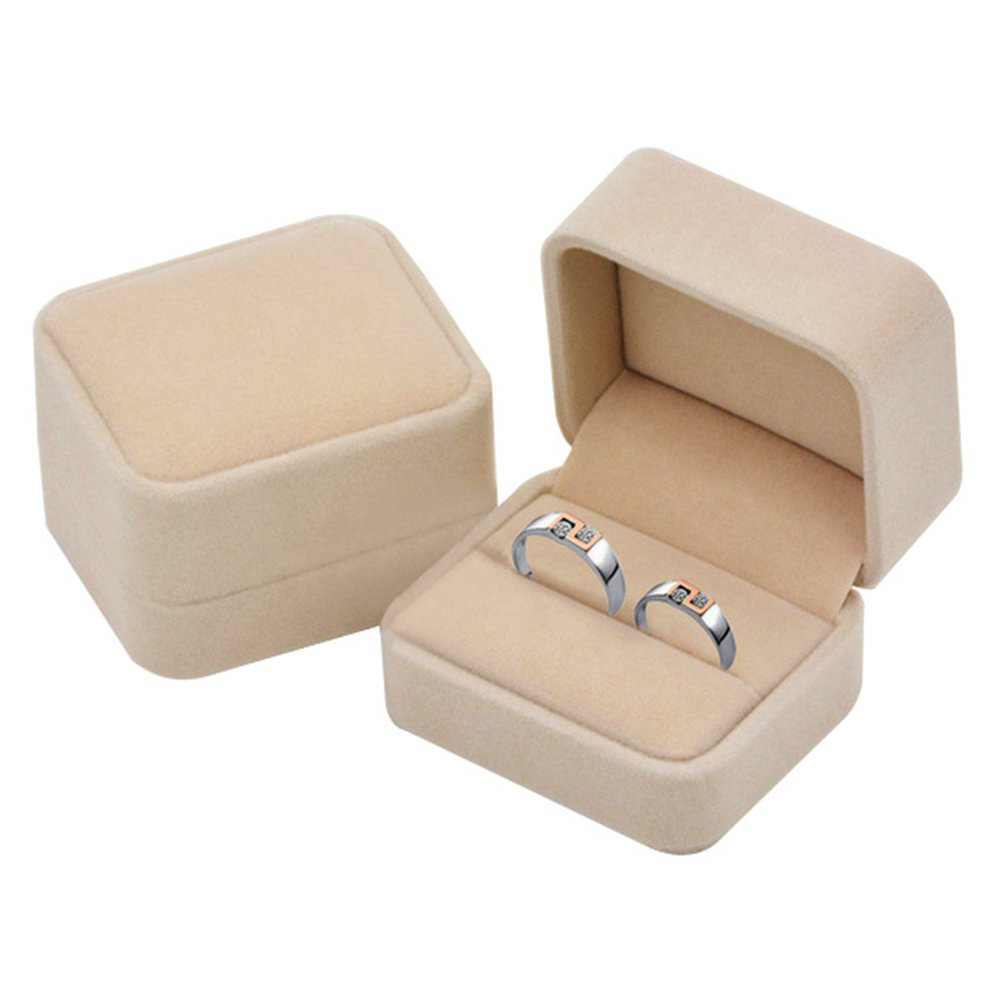 Simple Minimalist Light Brown Soft Touch Jewelry Gift Box