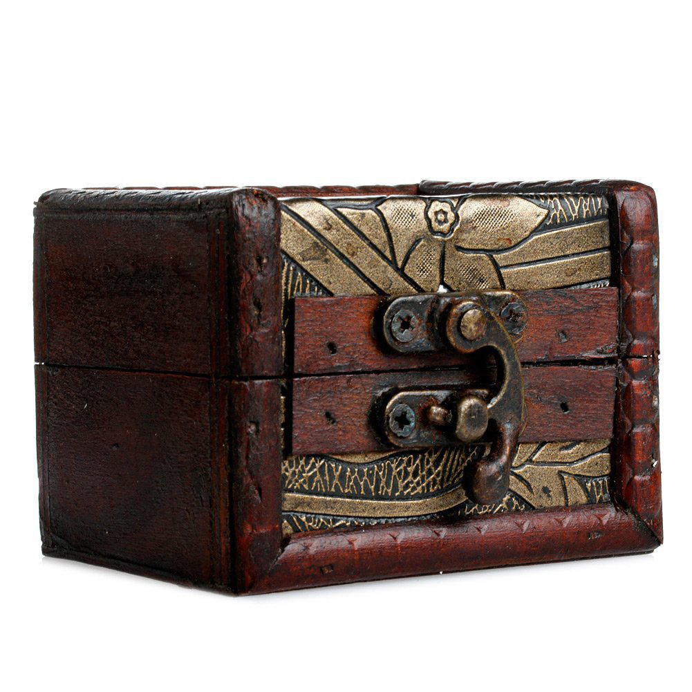 Cute Distressed Vintage Small Jewelry Box