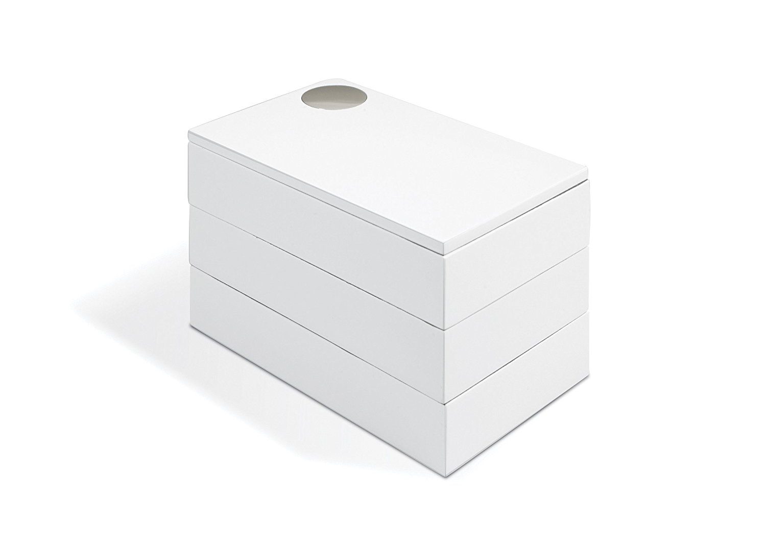 Minimalist White Stacking Jewelry Box