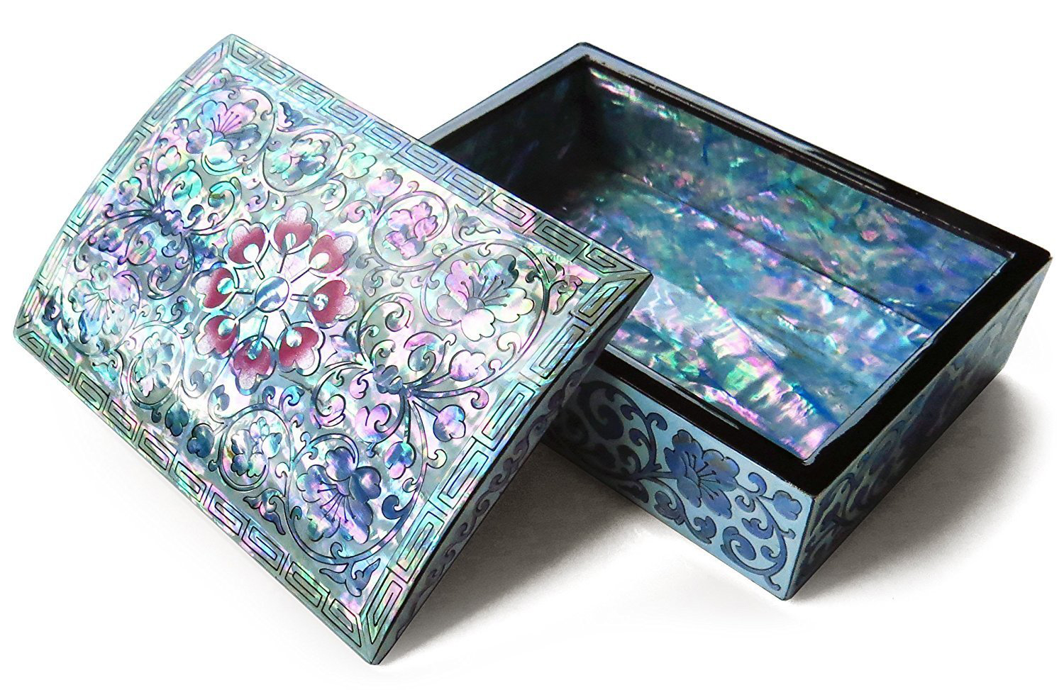 Beautiful Colorful Floral Theme Small Jewelry Box