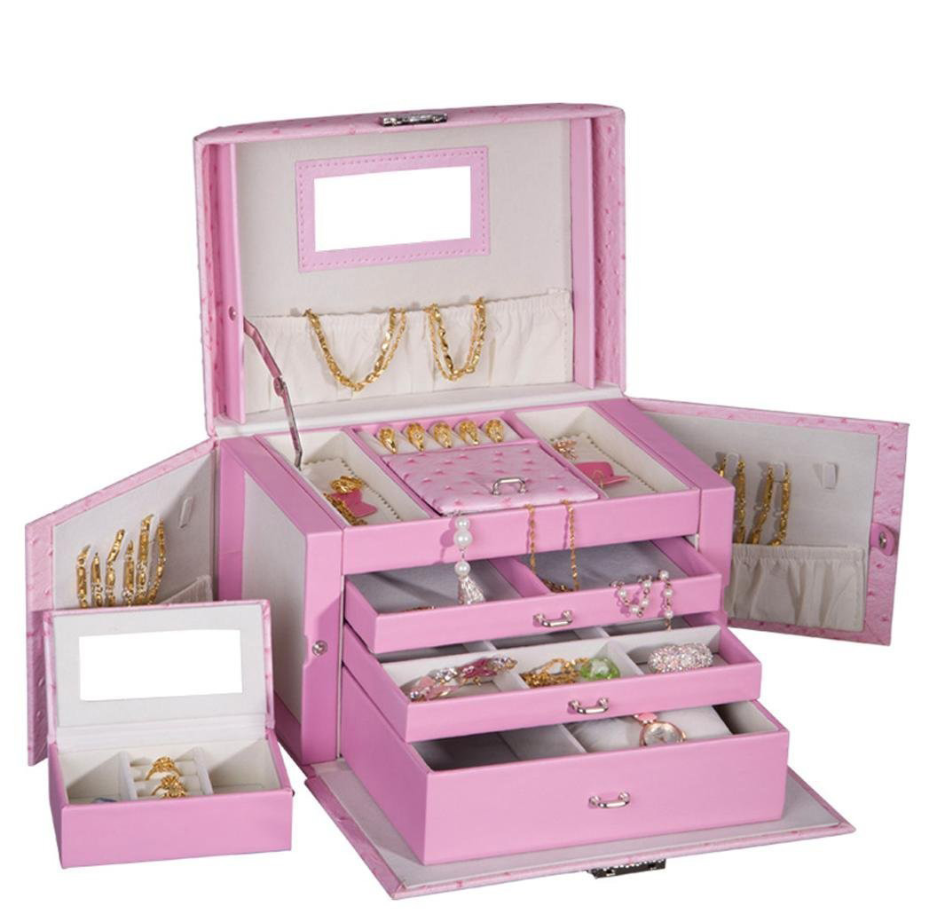 The 15 best locking jewelry boxes zen merchandiser for Girls large jewelry box