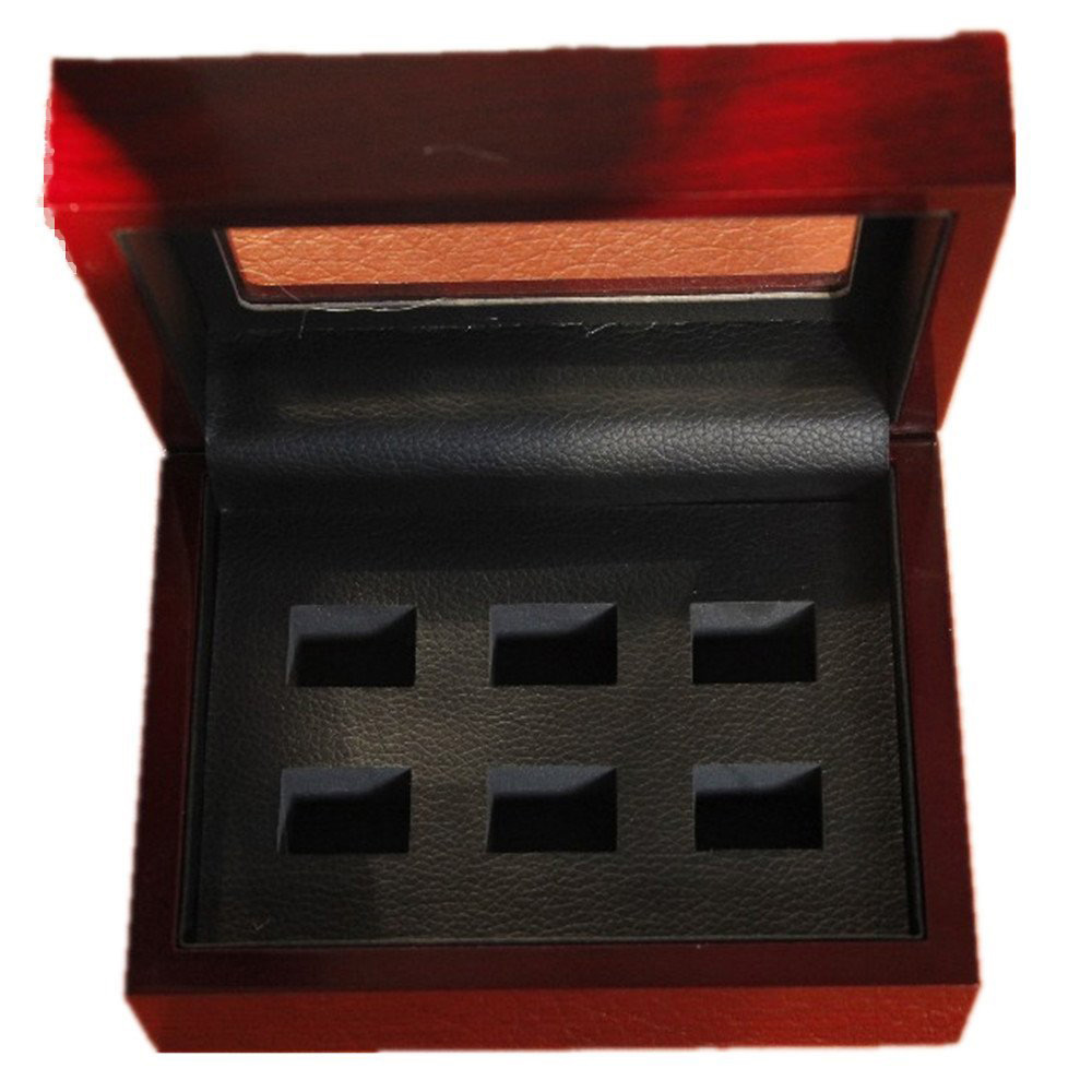 Simple Red 6 Slot Ring Holder Box