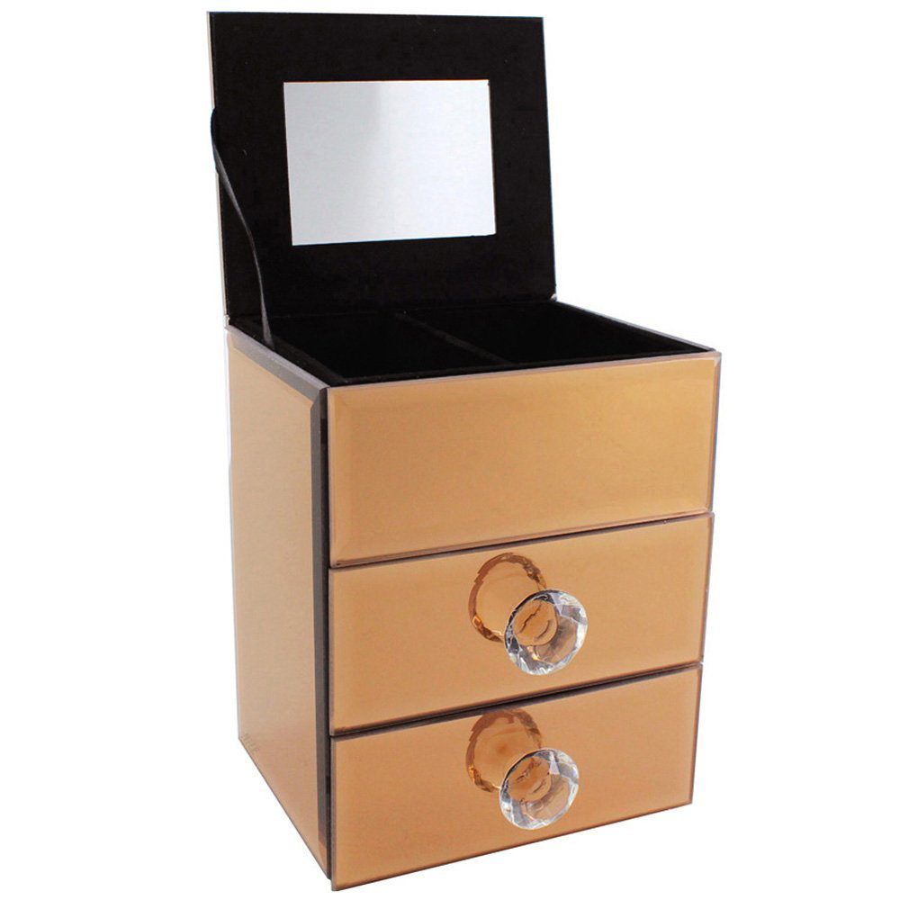 The 15 best mirrored jewelry boxes zen merchandiser for Mirror jewelry box