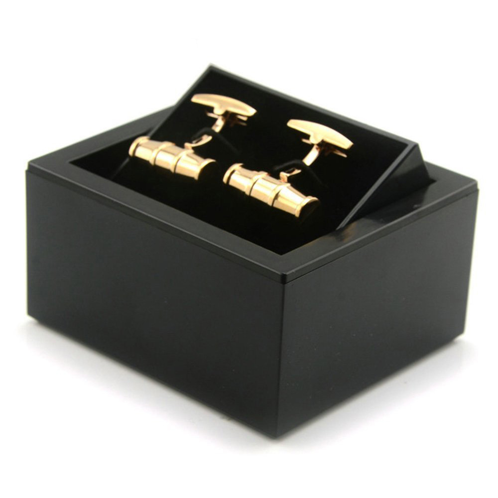 Elegant Black Earrings & Cufflinks Box