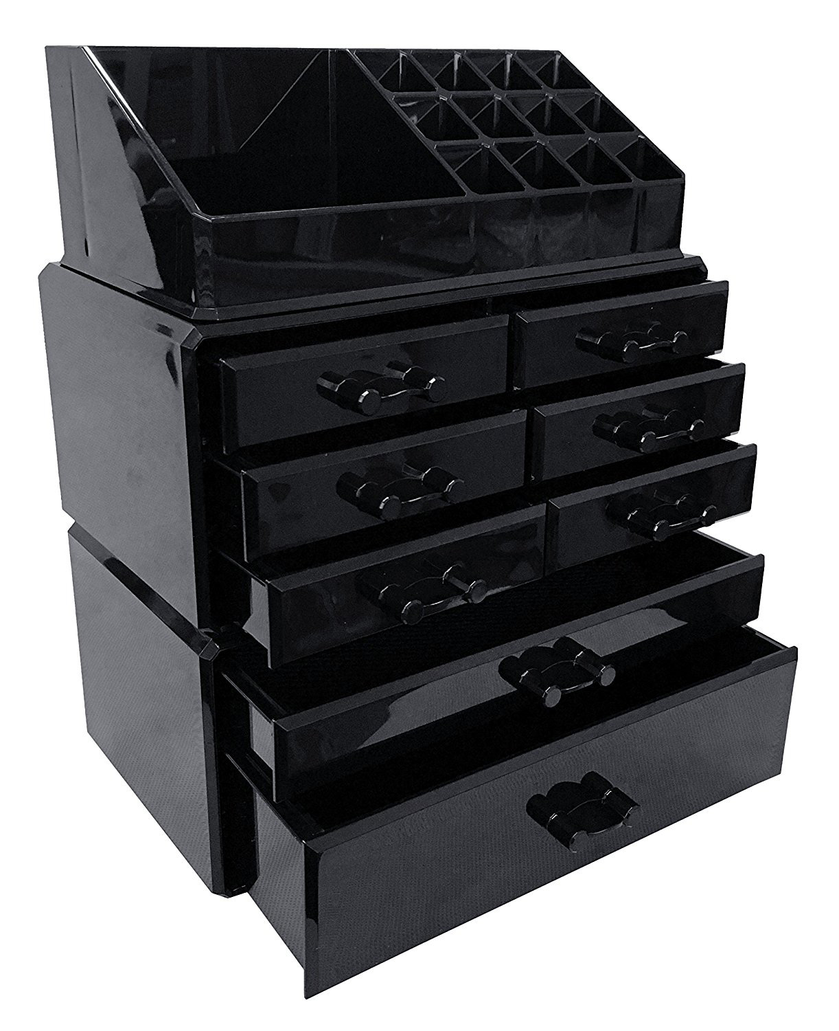 Elegant Black Tall Acrylic Jewelry Box