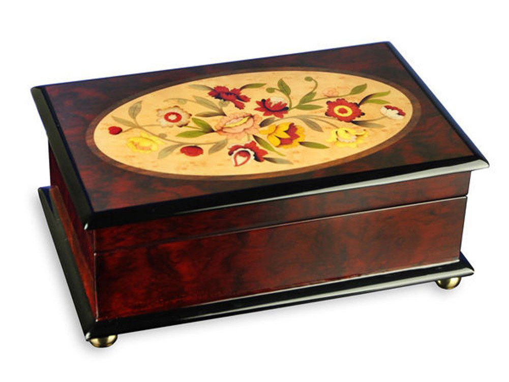 Beautiful Wooden Decorative Musical Jewelry Box